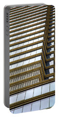 Portable Battery Charger featuring the photograph Towering Windows by Karol Livote