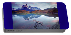 Portable Battery Charger featuring the photograph Towers Of The Andes by Phyllis Peterson
