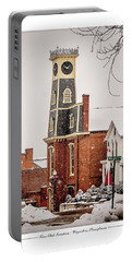 Town Clock Snowstorm Portable Battery Charger