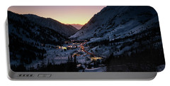 Town Of Alta At Dusk Portable Battery Charger