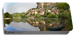 Town Of Beynac-et-cazenac Alongside Dordogne River Portable Battery Charger