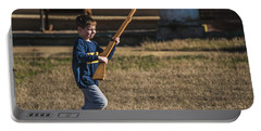 Toy Soldier Engages At Fort Washington Portable Battery Charger by Jeff at JSJ Photography