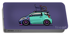 Toyota Scion Iq Slammed With Bmx Bike Portable Battery Charger