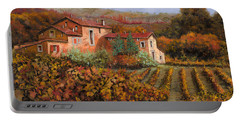 tra le vigne a Montalcino Portable Battery Charger by Guido Borelli
