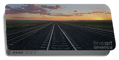 Tracks Into Sunset Portable Battery Charger