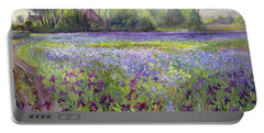 Trackway Past The Iris Field Portable Battery Charger by Timothy Easton