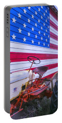 Tractor And Large Flag Portable Battery Charger