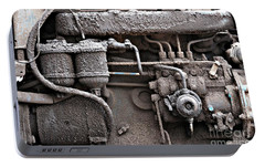 Portable Battery Charger featuring the photograph Tractor Engine II by Stephen Mitchell