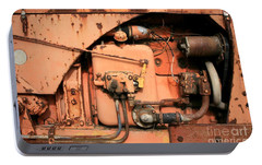 Portable Battery Charger featuring the photograph Tractor Engine V by Stephen Mitchell