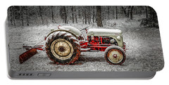 Tractor In The Snow Portable Battery Charger