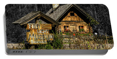 Traditional Austrian Wooden House Portable Battery Charger
