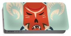 Traditional Bulgarian Evil Monster Kuker Mask Portable Battery Charger