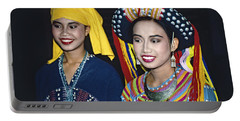 Portable Battery Charger featuring the photograph Traditional Dressed Thai Ladies by Heiko Koehrer-Wagner