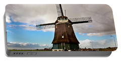Traditional Dutch Windmill Near Volendam  Portable Battery Charger