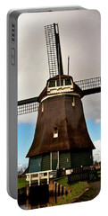 Traditional Dutch Windmill Near Volendam  Portable Battery Charger
