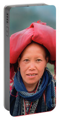 Traditional Fashion Of A Red Dzao Woman Portable Battery Charger