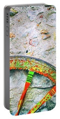 Portable Battery Charger featuring the photograph Traditional Sicilian Cart Wheel Detail by Silvia Ganora