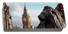 Trafalgar Square Lion With Big Ben Portable Battery Charger