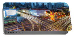 Traffic Light Trails In Singapore Chinatown Portable Battery Charger