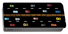 Portable Battery Charger featuring the photograph Traffic - Panorama by Nikolyn McDonald