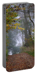 Trail In Morning Mist Portable Battery Charger