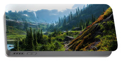Trail In Mountains Portable Battery Charger
