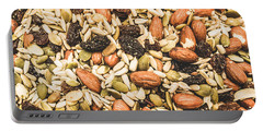 Portable Battery Charger featuring the photograph Trail Mix Background by Jorgo Photography - Wall Art Gallery
