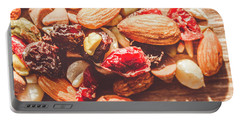Trail Mix High-energy Snack Food Background Portable Battery Charger