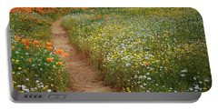 Portable Battery Charger featuring the photograph Trail Of Wildflowers At Diamond Lake In California by Jetson Nguyen