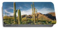 Trail Through Saguaro Portable Battery Charger by Greg Nyquist