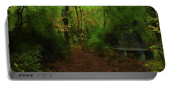 Trailside Bench Portable Battery Charger by Cedric Hampton