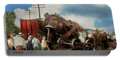 Train - Accident - Butting Heads 1922 Portable Battery Charger by Mike Savad