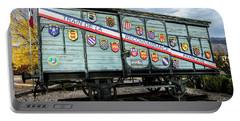 Train De La Reconnaissance Francaise - Ogden - Utah Portable Battery Charger by Gary Whitton