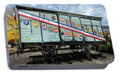 Portable Battery Charger featuring the photograph Train De La Reconnaissance Francaise - Ogden - Utah by Gary Whitton
