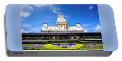 Portable Battery Charger featuring the photograph Train Station by Greg Fortier