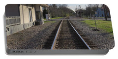 Portable Battery Charger featuring the photograph Train Station View by Aaron Martens