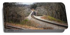 Train Tracks Across The New River - Radford Virginia Portable Battery Charger