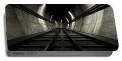 Train Tracks And Tunnel Portable Battery Charger