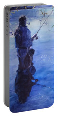 Tranquil Fishing Portable Battery Charger by Greta Corens