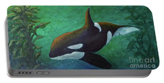 Portable Battery Charger featuring the painting Tranquil Force by Phyllis Howard