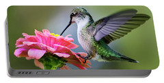Tranquil Joy Hummingbird Square Portable Battery Charger