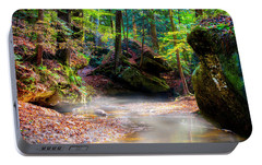 Portable Battery Charger featuring the photograph Tranquil Mist by David Morefield