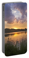 Tranquil Sunset On The Lake Portable Battery Charger