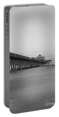 Tranquility At Folly Grayscale Portable Battery Charger by Jennifer White