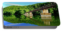 Tranquility At The James River Footbridge Portable Battery Charger