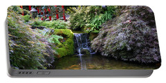 Tranquility In A Japanese Garden Portable Battery Charger