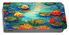 Portable Battery Charger featuring the painting  Tranquility V  by Teresa Wegrzyn