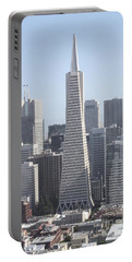 Transamerica Pyramid In San Francisco Portable Battery Charger