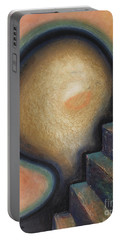 Portable Battery Charger featuring the painting Transcendence by Mini Arora