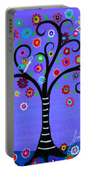 Portable Battery Charger featuring the painting Transformation Tree Of Life by Pristine Cartera Turkus